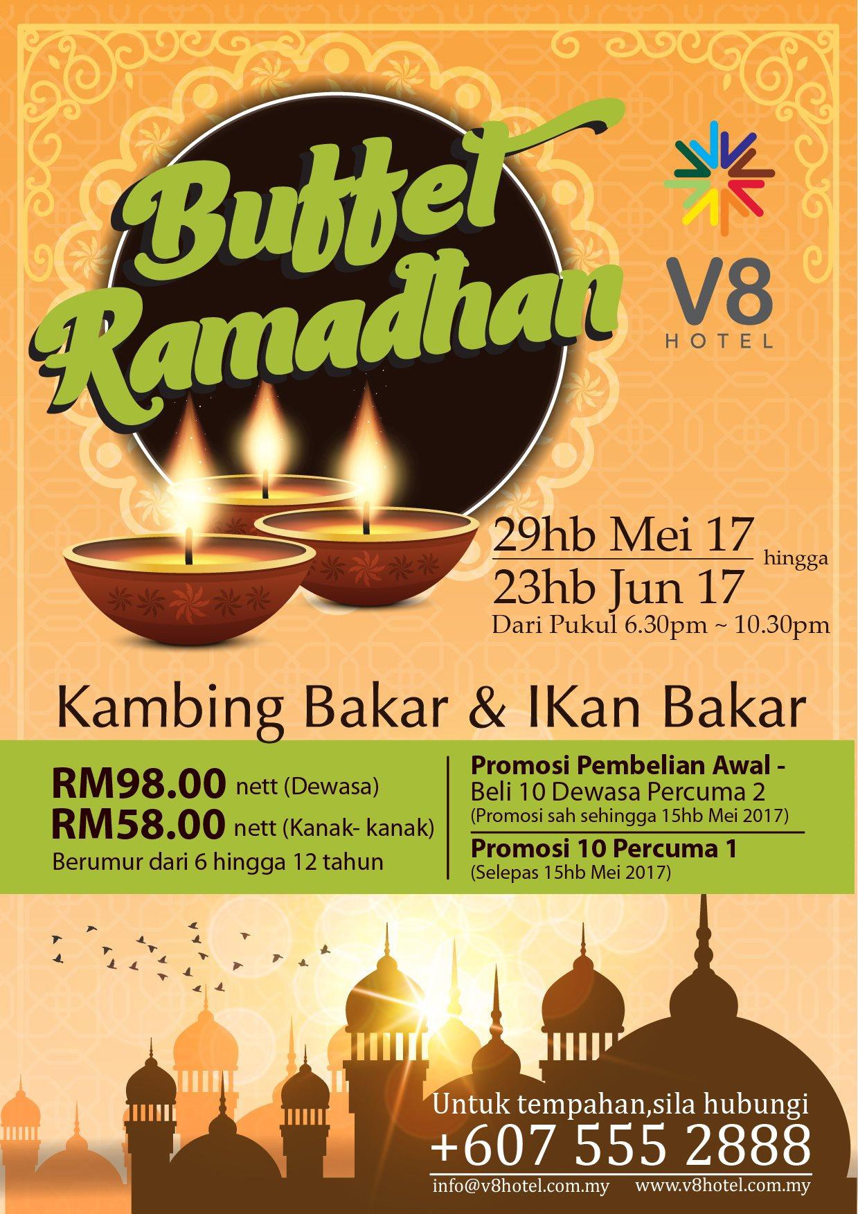 V8 Hotel Ramadhan Flyer 2017